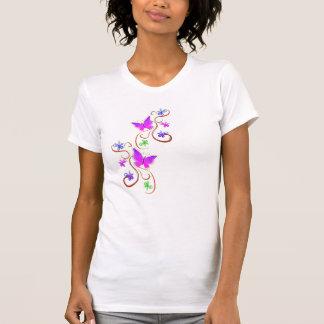 mariposas y flores camiseta