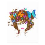 Mariposas y flores postales