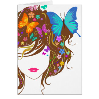 Mariposas y flores felicitacion