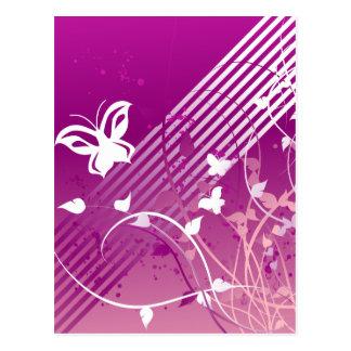 Mariposas y gráficos postal