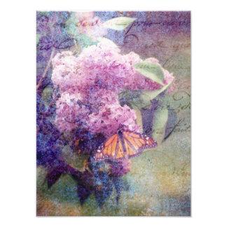 Mariposas y lilas texturizadas fotografías