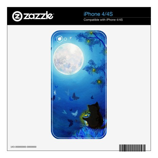 Mariposas y linternas de hadas iPhone 4 skin