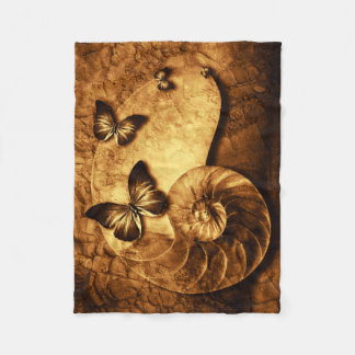 Mariposas y manta fósil del paño grueso y suave de