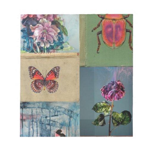 Mariposas y más bloc de papel