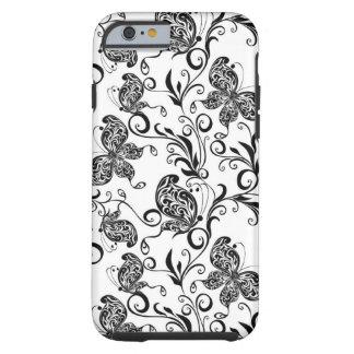 Mariposas y modelo blancos y negros de los funda de iPhone 6 tough