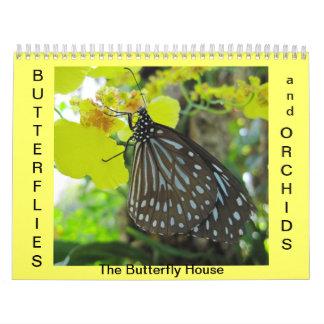 Mariposas y orquídeas calendario
