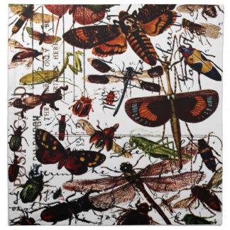Mariposas y polillas servilleta
