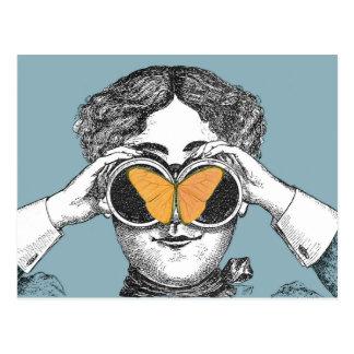 Mariposas y prismáticos tarjetas postales