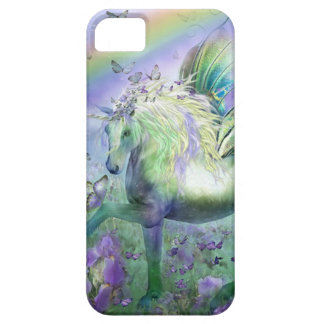 Mariposas y Ranbows del unicornio iPhone 5 Case-Mate Coberturas