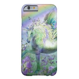 Mariposas y Ranbows del unicornio Funda Para iPhone 6 Barely There