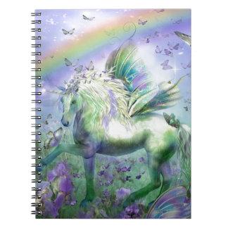 Mariposas y Ranbows del unicornio Libreta