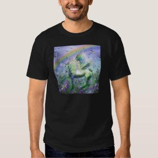 Mariposas y Ranbows del unicornio Playeras
