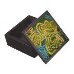Mariposas y rayas cajas de recuerdo de calidad