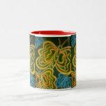 Mariposas y rayas tazas de café
