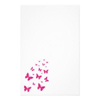 Mariposas y remolinos inmóviles papelería personalizada
