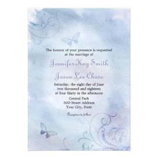 Mariposas y remolinos que casan invitaciones comunicado