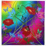 Mariposas y rosas de las servilletas de cena (4)