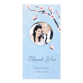 Mariposas y SakuraThank usted foto Tarjeta Con Foto Personalizada