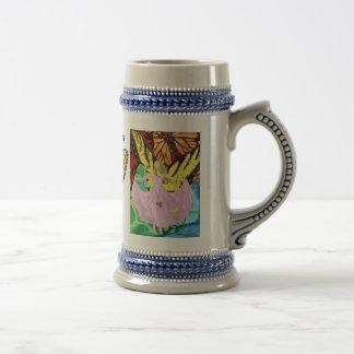 Mariposas y sol tazas de café