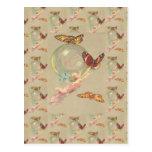 Mariposas y un ángel postal
