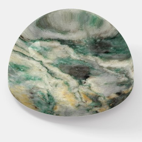 Mariposite Mineral Stone Pattern Paperweight