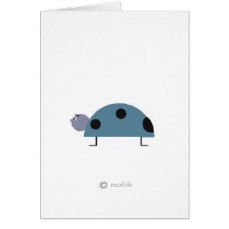 Mariquita azul card