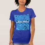Mariquita azul femenina metálica brillante adorabl camiseta