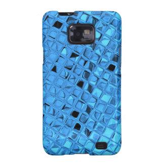 Mariquita azul femenina metálica brillante del galaxy s2 fundas