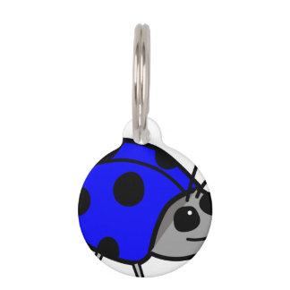 Mariquita azul orgullosa ser diferente placas para mascotas