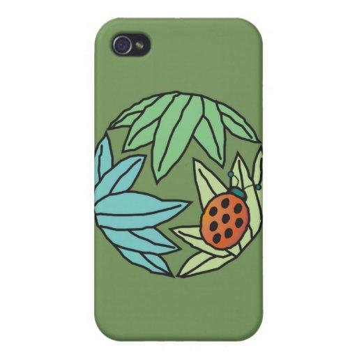 Mariquita - caso del iPhone (verde) iPhone 4 Cárcasa