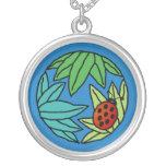 Mariquita - collar (azul)