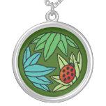 Mariquita - collar (verde)