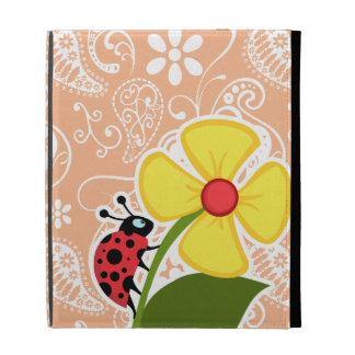 Mariquita; Color Paisley del albaricoque; Floral