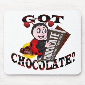 "Mariquita de Chocoholic - ""consiguió el chocolate? Tapetes De Ratón"