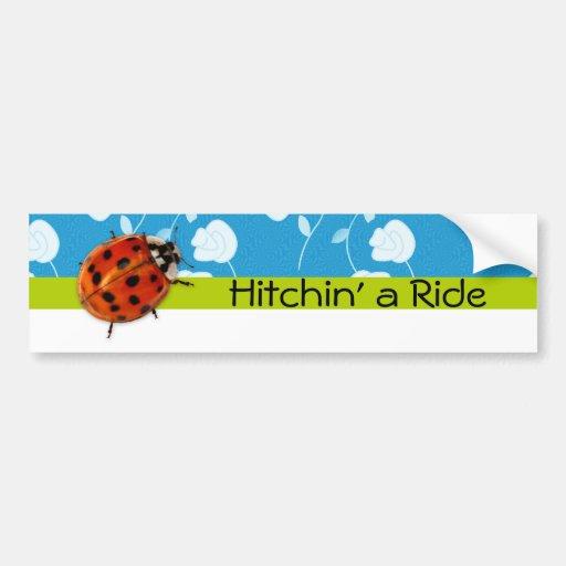 Mariquita de moda Hitchin un paseo Pegatina Para Auto