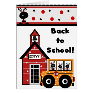 Mariquita de nuevo a tarjeta de la escuela