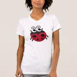 Mariquita del dibujo animado camiseta