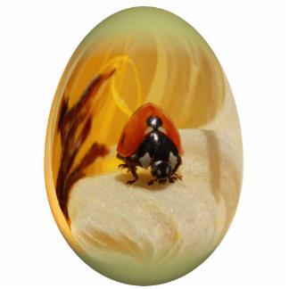 mariquita del huevo de Pascua Adorno Fotoescultura