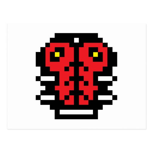 Mariquita del pixel tarjeta postal
