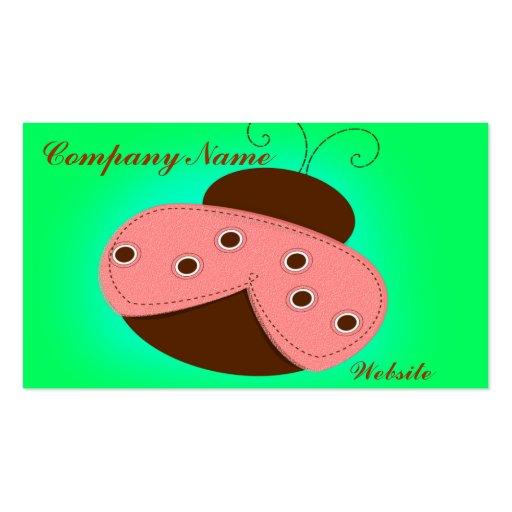 Mariquita del rosa y del chocolate plantillas de tarjetas personales