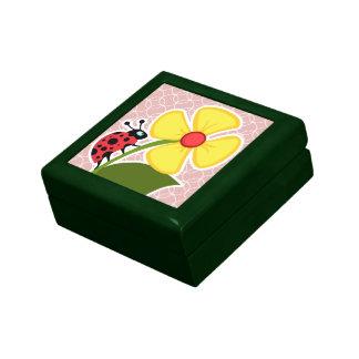 Mariquita en círculos de color de malva cajas de recuerdo