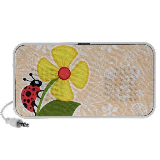 Mariquita en el color Paisley de la sopa de marisc iPod Altavoces