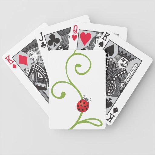 Mariquita en vid barajas de cartas