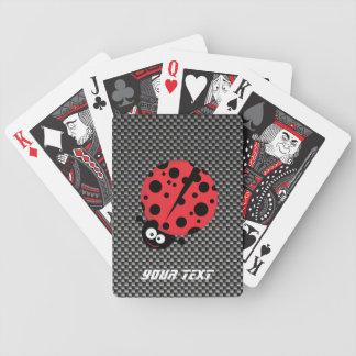 Mariquita; Falsa fibra de carbono Baraja Cartas De Poker