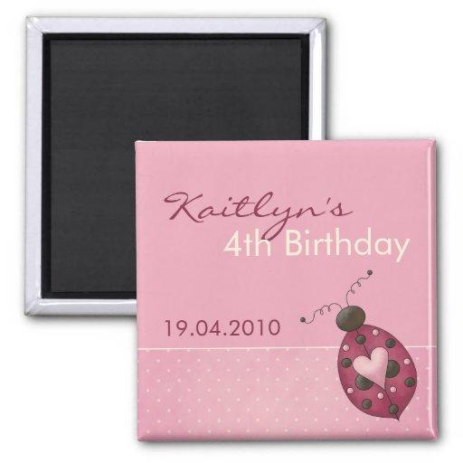 Mariquita · Imán de la invitación del cumpleaños
