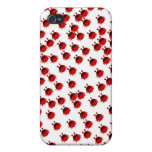 mariquita linda del rojo del insecto del escarabaj iPhone 4 funda