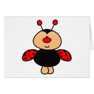 mariquita linda dulce tarjeta