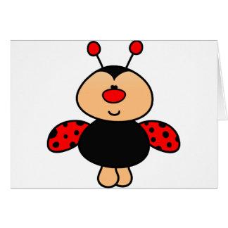 mariquita linda dulce tarjeta de felicitación