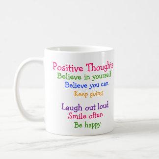 Mariquita linda pensamientos positivos tazas de café