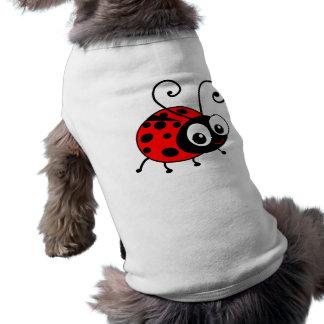 Mariquita linda playera sin mangas para perro